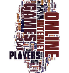Mmorpgs what are they text background word cloud vector