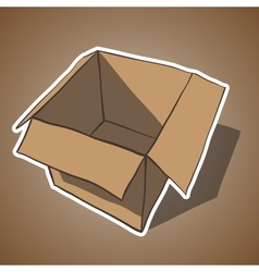 Open box with white outline Cartoon vector image