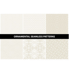 ornamental patterns - seamless collection vector image