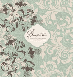 ornate damask background vector image