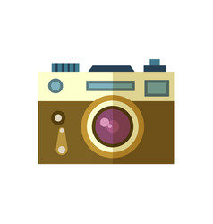 Photo camera icon isolated vector