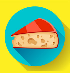 piece of cheese icon cheese vector image