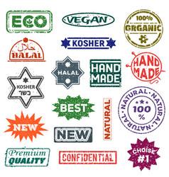 quality label best badge symbol of vector image