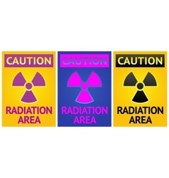 radiation hazard sign vector image