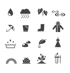 rainy season icon vector image