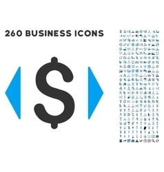 Regulate price icon with flat set vector