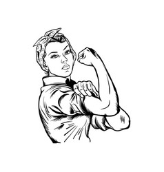 Rosie the riveter vector