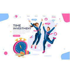 save time business concept vector image