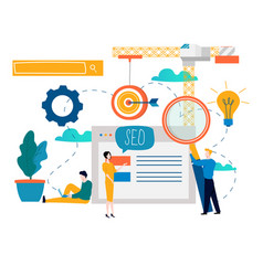 Seo search engine optimization keyword research vector