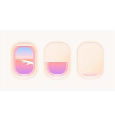 set aircraft windows vector image