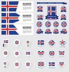 SET Iceland vector