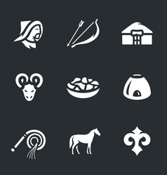 set of nomad icons vector image