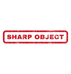 Sharp object rubber stamp vector