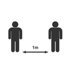 social distancing icon vector image