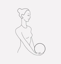 sportswoman icon line element vector image