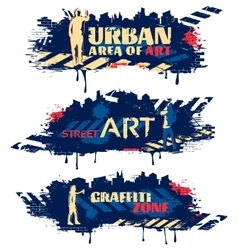 Street Art Horizontal Banners vector