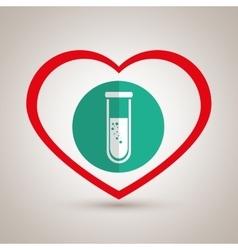 symbol medicine lab tube vector image