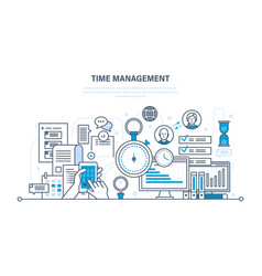 Time management planning organization of working vector