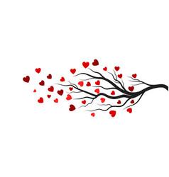 tree branch love design vector image