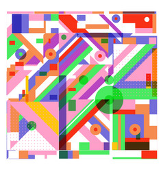 Trendy geometric elements memphis greeting cards vector