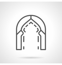 Turkish arch simple line icon vector