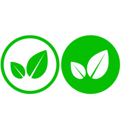 Two simple leaf icons vector