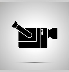 video camera silhouette simple black icon vector image