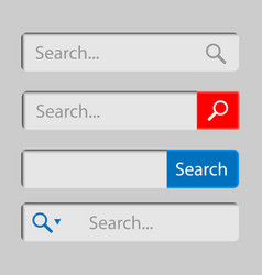 web search field search bar set interface elements vector image