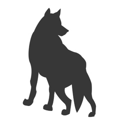 wolf silhouette icon vector image
