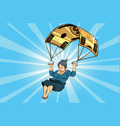 woman golden parachute financial compensation in vector image