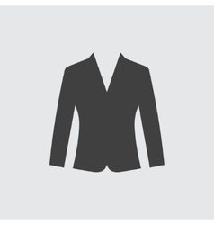 Woman jacket icon vector