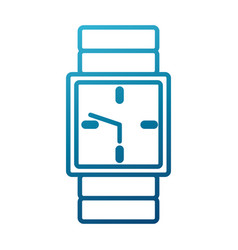 Wristwatch clock symbol vector