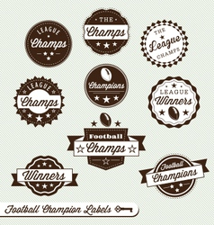 Football Champs Labels vector image