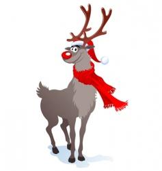 Happy reindeer vector