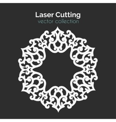 Laser Cutting Template Round Card Die Cut vector image