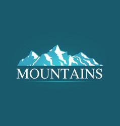 logo of alpine mountains vector image vector image