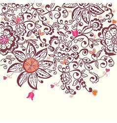 Floral background hand drawn design vector image
