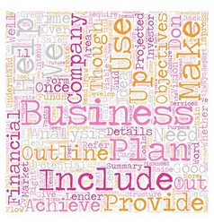 How To Create A Good Business Plan text background vector image