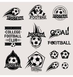 Set of vintage modern and retro logo badges vector image