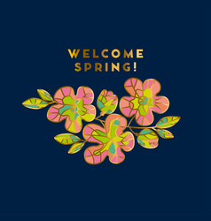 abstract sakura blossom vector image