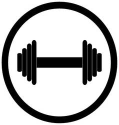 Dumbbell black icon vector image
