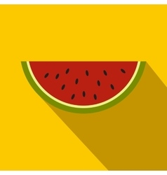 Piece of watermelon icon flat style vector image vector image