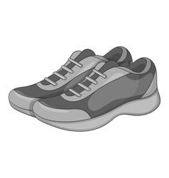Sport sneakers icon gray monochrome style vector image vector image