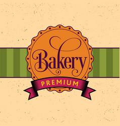 bakery design poster vector image