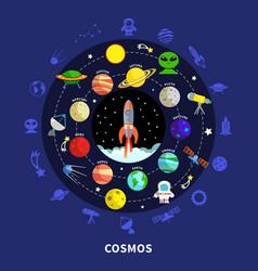 cosmos concept vector image vector image