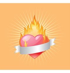 Heart design elements vector image vector image