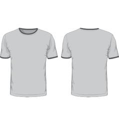 Mens t-shirts template Front and back views vector image vector image