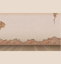 old wall and parquet floor vector image vector image