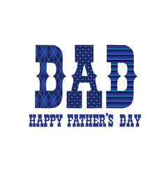 patterned happy fathers day typography vector image vector image