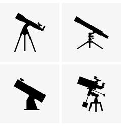 Telescopes vector image vector image